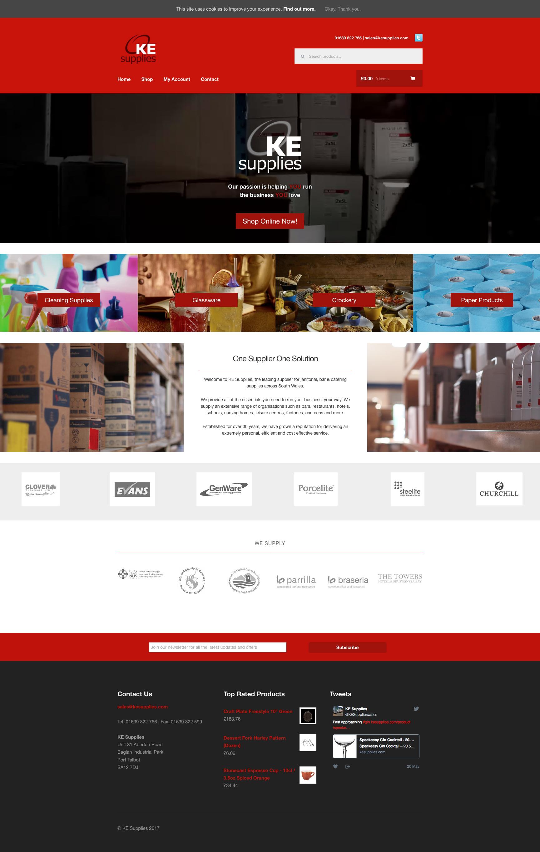 KE Supplies Website